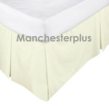 CREAM - 225TC Box Pleated Valance / Bed Skirt - SINGLE DOUBLE QUEEN KING