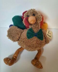 "13"" Plush TOM the Thanksgiving Turkey Stuffed Animal- New w/ Tag Holiday Toy"