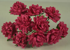 50 FUSCHIA PINK ASTER daisy Mulberry Paper flower miniature cardmaking
