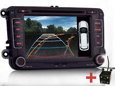 Rückfahrkamera+Autoradio DVD NAVI Für VW GOLF 5 PASSAT TOURAN Sharan POLO Caddy