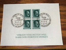 Germany HitlerThird Reich 1937 Sc# B103 Used - MLH Imperf Berlin Cancel