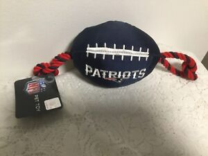NEW ENGLAND PATRIOTS FOOTBALL DOG TOY ROPE NFL TEAM PETS FIRST