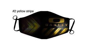 Oakley Facemask custom Yellow Stripe