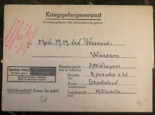 1940s Germany Stalag 12D POW Prisoner of War letter Cover to Groningen Holland