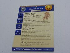 D&D DUNGEONS & DRAGONS MINIATURES WEREWOLF LORD PROMO EPIC CARD HC502