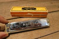 Vintage Antique Brelli 16 Hole C Harmonica w/Original Box C82-III Jiangsu China!