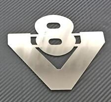 1 Stück V8 SCANIA LKW Edelstahl Emblem Chrom selbstklebend Schild Zubehör