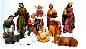 11 PIECE XTRA LARGE CHRISTMAS NATIVITY SET SCENE WITH 11 FIGURES NEW HW-674B