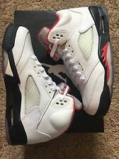 "Air Jordan Retro 5 ""Fire Red"" - Grade school Size 5 Youth"