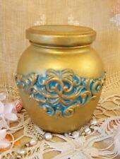Shabby chic Hold Jar. Golder. Vase