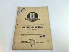 Vintage 1968 Implement & Tractor Shop Manual- Massey-Ferguson MF1100 MF1130