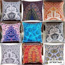 16'' Fashion Family Cotton Pillow Case Sofa Cushion Cover Home Decor Lot of 5 PC