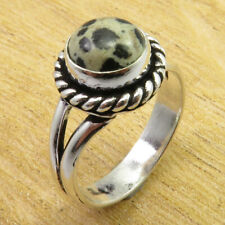 Size 7.25 Ring JEWEL 925 Silver Overlay Collectible Dalmation Jasper BRAND NEW