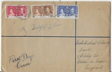 L2279 ANTIGUA 1937 FIRST DAY COVER TO ENGLAND