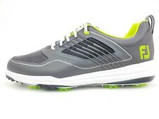 FJ Fury, FootJoy, Men's Size 12 M, 51102, Grey/Lime/White Athletic Golf Shoes
