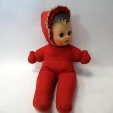Precioso Coleccionable Muñeca con ojos en movimiento y Rojo Ropa Vintage Juguete para Niños