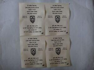 4 Vietnam War VC Propaganda Leaflets Against US 5th SFGrp MACV-SOG Team