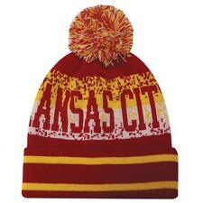 Kansas City Chiefs Inspired Winter Pom Hat / Beanie New FREE SHIPPING