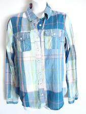 Gilly Hicks button down shirt lime navy blue red  size M New