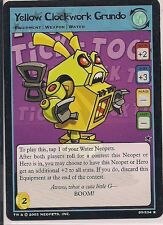 Neopets CCG  - Yellow Clockwork Grundo #95