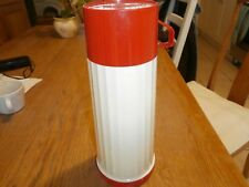 Aladdin Thermos Flask, red & cream, good condition.