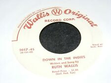 RUTH WALLIS Sexy Original 45 rpm Single 7 inch TONIGHT YOU SLEEP IN THE BATHTUB