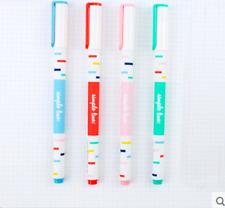 6PCS/Pack Great Simple Line Rollerball Pens Gel Ink Pens Black Ink-0.5mm WX04