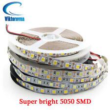 DC5V 12V 24V LED luz de tira TV Retroiluminación Auto Adhesivo Cinta flexible blanco PCB