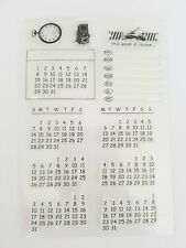 13 CALENDAR CLEAR STAMP-DATES-DIARY PLANNER-DAYS/WEEKS/MONTH-CALENDER-STAMPS UK