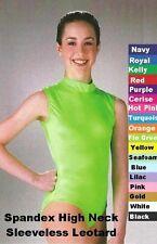 Leotard Dance Costume Spandex Sleeveless Cheerleader Jazz Tap Ballet New
