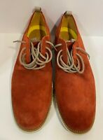 Cole Haan Men's Zerogrand Derby Oxford Shoes Red Suede Casual  Sz 10M
