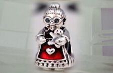 Authentic Pandora SILVER Charm Bead 792005 Mrs Claus Santa Christmas new