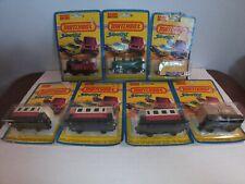 Matchbox Superfast Train - Locomotive Passenger Coach - 7 Pcs - On Blister Cards