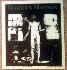 """Marilyn Manson AntiChrist 4.5""""x5"""" STICKER DECAL deadstock new old stock"""