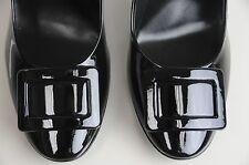 New Roger Vivier Black Patent BELLE De Nuit t.100  New Buckle Shoes 40.5 10