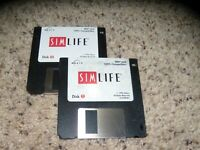 "Sim Life IBM PC Game on 3.5"" disks"