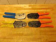(4) Asst Crimping Tools, PA RJ45, Tru Spec Hex 596, Amp 220190-1 Com BNC RG-58