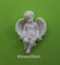 Decorative resin mouldings furniture applique shabby chic onlay cherubs x 4