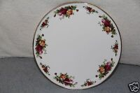 """Royal Albert Old Country Roses Bone China 11"""" Round Cake Plate / Platter NWT"""