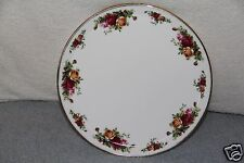 "Royal Albert Old Country Roses Bone China 11"" Round Cake Plate / Platter NWT"