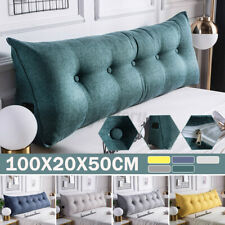Soft Cotton Wedge Lumbar Pillow Back Rest Support Headboard Cushion Bed Reading