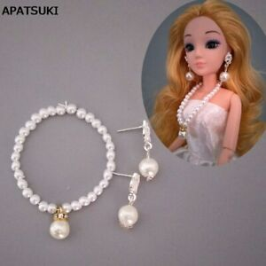 """1/6 Doll Accessories Imitation Pearl Jewelry Necklace Earring For 11.5"""" Doll Toy"""
