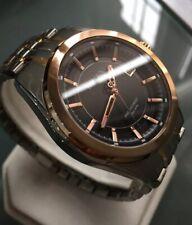 Mens Genuine Bulova Precisionist 98B268 Designer Watch Rose Gold Black RRP£399