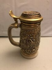 """Vintage 1987 Avon Beer Stein """"The Gold Rush"""" Collectible Lidded Ceramic Numbered"""