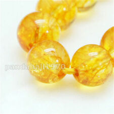 5 Strands Round Dyed Heated Natural Quartz Crystal Beads Strands 8mm Hole 1mm