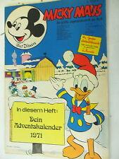 1 x Comic - Walt Disney - Micky Maus - Heft Nr. 48 -Jahr 1971 + Doppelkarte -Z.2