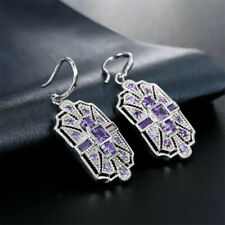 STERLING SILVER OVERLAY TREE OF LIFE FASHION DROP DANGLE EARRINGS FOR WOMEN GIRLS BY TIBETAN SILVER