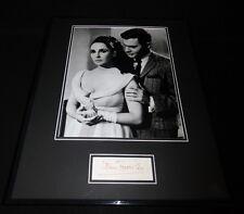Louis Jourdan Signed Framed 16x20 Photo Display w/ Elizabeth Taylor The VIPs