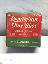 Vintage Remington Shur Shot 12 Gauge Smokeless Wetproof Empty Ammo Box