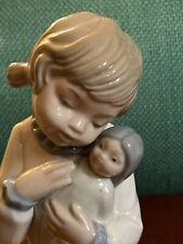 Perfect Condition Lladro Figurine, Young Girl with Doll.